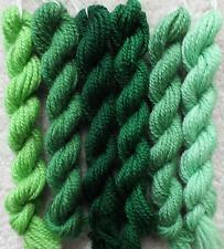 Vintage Green Shades (pre-1980) Paternayan Persian Wool