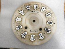 ancien cadran oeil de boeuf -albâtre pendule horloge comtoise UHR CLOCK - 24,5cm