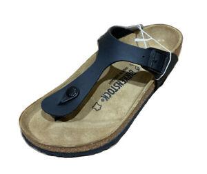 BIRKENSTOCK Size 37 US 6 Black Gizeh BS Birko-Flor Upper Sandals