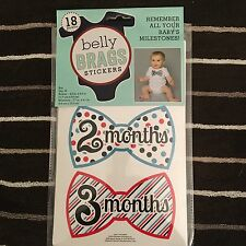 NWT Baby Belly Brags Stickers for a Boy!!! (Bowtie)