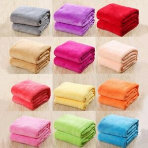 Soft Warm Plush Fleece Blanket Throw Flannel Blanket Throw Rugs Sofa Bedding 001