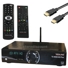 Redline 4000 TS Plus HDTV satellite Receiver IPTV CA Card reader USB WLAN LAN