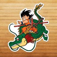 Young Kid Goku with Shenron Anime Cartoon Die Cut Wall Car Window Decal Sticker