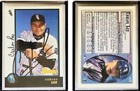 Carlos Lee Signed 1998 Bowman #428 RC Card Chicago White Sox Auto Autograph
