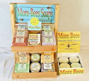 More Bees Choice Natural Organic Beeswax Soap, Lotion & Lip Balm Homemade in USA