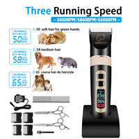 Pet Shave Clipper Hair Low Noise Cordless Electric Dog Cat Grooming   1-