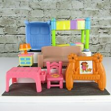 Dora the Explorer Lot of (7) Different Pieces of Dollhouse Furniture Mattel