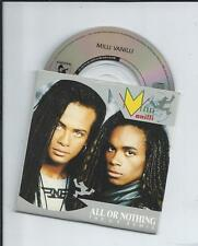 "MILLI VANILLI - All or nothing (U.S. REMIX) 3"" CD SINGLE 2TR GERMANY PRINT 1989"