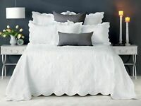 Bianca Shayla Luxurious Coverlet Queen/King Size White RRP $429.95