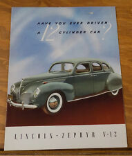 1939 Vehicle Brochure///LINCOLN-ZEPHYR V-12 AUTOMOBILE///c