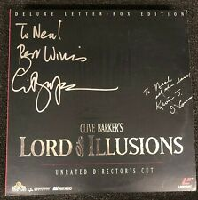 LORD OF ILLUSIONS Laserdisc [ML1052] SIGNED by Kevin J. O'Connor & Clive Barker