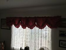 Rose Pink Water Tafetta Austrian Balloon Curtain Window Valance 430cm X 50cm