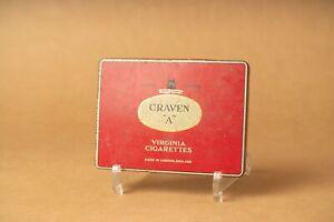 boite rectangulaire publicitaire métal cigarettes Craven A vintage 60 70