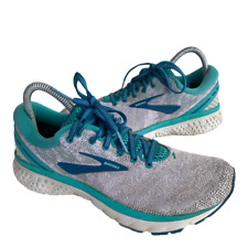 Brooks Ghost 11 Womens Size 8.5 Gray Blue Athletic Trail Running Sneakers Shoes