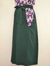 VINTAGE JINKEN WOMENS HAKAMA For Graduation/Coming of Age:Dark Green@L87a