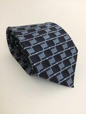 """Burma-Bibas Mens Silk Necktie Blue 57x4"""" Tie Made in USA"""