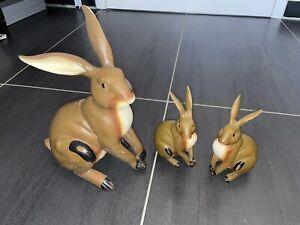 Oster-Dekoration Osterhasen Familie (3 Hasen)