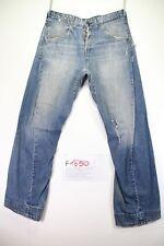 Levi's engineered 308 (Cod.F1650) tg46 W32 L34 jeans con roturas usado vintage