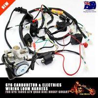 Carby + Full Electric Engine Wiring Harness Loom GY6 150cc Quad Bike ATV Buggy
