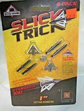 "Slick Trick Broadhead Standard 100 Gr 4 Pack 1"" Cutting Diameter  4 blade"