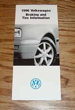 Original 1996 Volkswagen VW Braking & Tire Information Sales Brochure 96 Jetta