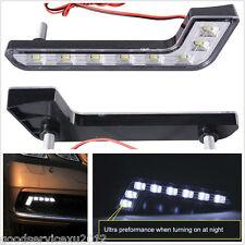 2 Pcs L-Shape 6000K-7000K Super Bright 8-LED White Vehicle Front Fog Lights DRL