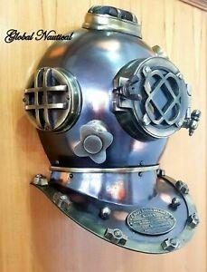 """18"""" Replica Door Knock Window Antique Diving Helmet Marine US Navy Mark V Helmet"""