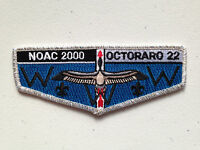 OCTORARO OA LODGE 22 SCOUT SERVICE PATCH FLAP 2000 NOAC DELEGATE SMY BORDER MINT