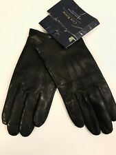 Club Room Men's US M Cashmere Lined Leather Gloves Black