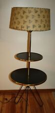 VINTAGE MID CENTURY MODERN IRON HAIRPIN LEG FLOOR LAMP/TABLE~ATOMIC Eames Era