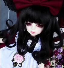 1 4 7-8  BJD MSD DD SD DZ DOD LUTS Dollfie Doll parrucca s 18-19 Ricci black