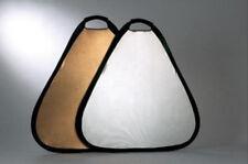 "Pro Photography 24"" 60cm Triangular Gold &Silver Light Studio Reflector Portable"