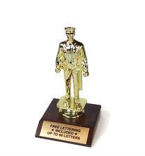 Policeman Trophy- Law Enforcement- Officer-  Desktop Series- Free Lettering