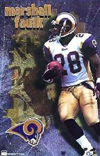2000 Marshall Faulk St Louis Rams Original Starline Poster OOP