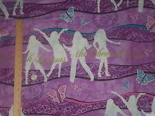 Cheetah Girls Popstar Stripe Disney Wavey Lines Springs Global Cotton Fabric BTY