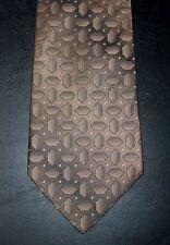 David Taylor Tie Geometric Design Bronze NIB t1375