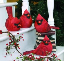 "3rd Large Resin Red Cardinal Bird Figurine 5.5"" (1 bird only)"