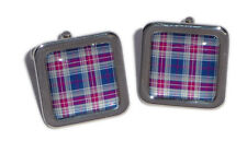 Tartan Cufflinks - Blue & Purple