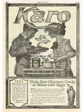 1919 Karo Crystal White Syrup Making Christmas Candy art Vintage Print Ad