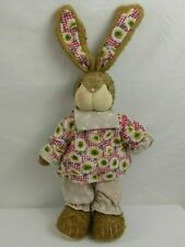 Midwestern Home Products Happy Easter Bunny Wooden Figurine With Sunflower Cloth