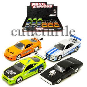 Jada Fast & Furious Charger Skyline Supra Eclipse 1:32 Display Toy Car 31978-DP1