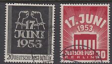Berlino: 1953 Est Tedesco rivolta Set sgb110-11 BELLE USATO