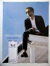 PUBLICITE-ADVERTISING :  DIOR Homme Cologne  2014 Parfum