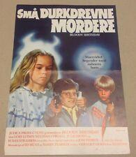 """Bloody Birthday"" Lori Lethin Melinda Cordel 1981 Danish Movie Press Release Kit"
