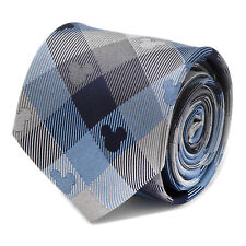 Disney Mickey Mouse Blue Plaid Mens Tie, Officially Licensed