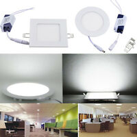 3W 6W 9W 12W LED Ceiling Panel Down Light Cabinet Recessed Fixture Slim Lamp UK