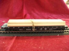 """HO Scale Varney Flat Car F-11 Erie """"Road Name"""" (Black) with load Original Box"""