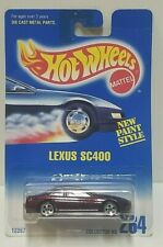 1991 Hot Wheels Lexus SC400 Dark Red 264 Blue Card PLEASE READ