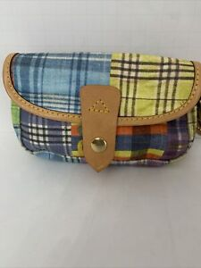 Dooney & Bourke Multi Color Plaids Picnic Ants Wristlet Clutch