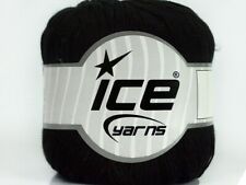 Pure Bamboo #41451 Black Super-Fine Yarn Ice 100% Bamboo 50 Grams 218 Yards